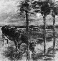 Макс Либерман. Корова пьет воду