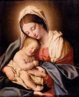 Джованни Батиста Сальви. Мадонна с младенцем
