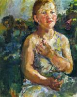 Oskar Kokoschka. Girl with flowers