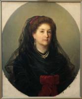 Аполлинарий Горавский. Портрет неизвестной в черном платье