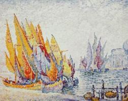 Поль Синьяк. Парусные лодки, Венеция