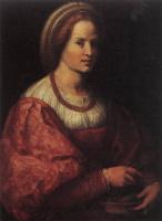 Андреа дель Сарто. Портрет женщины с корзиной шпиндели