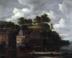 Якоб Исаакс ван Рейсдал. Водяные мельницы и прачки