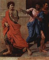 Никола Пуссен. Христос и грешница, деталь
