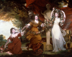 Джошуа Рейнольдс. Три девушки, украшающие терму Гименея