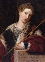 Моретто да Брешиа. Портрет Туллии д'Арагон в образе Соломеи
