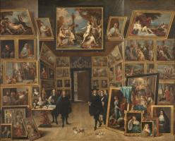 Давид Тенирс Младший. Эрцгерцог Леопольд Вильгельм в своей картинной галерее в Брюсселе