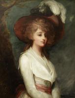 Джордж Ромни. Портрет юной леди в шляпе с перьями