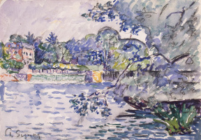 Paul Signac. The Banks Of The Seine