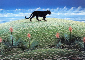 Ирен Инвреа. Пантера гуляет среди ромашек