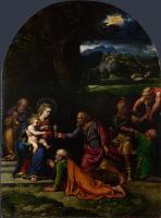 Girolamo da Carpi. The adoration of the Magi
