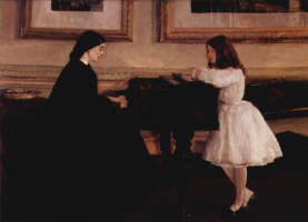 James Abbot McNeill Whistler. At the piano