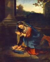 Антонио Корреджо. Поклонение младенцу