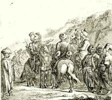 Даниэль  Николай Ходовецкий. Шестеро конных турок