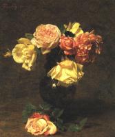 Анри Фантен-Латур. Белые и розовые розы