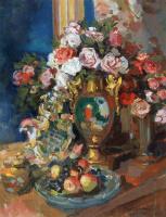 Konstantin Korovin. Still life. Roses