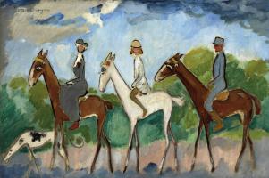 Кес Ван Донген. Прогулка на лошадях
