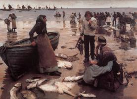 Стенхоп Александр Форбс. Рыбная торговля на Корниш-Бич