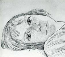 Lucien Freud. Girl