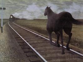Алекс Колвилл. Лошадь и поезд