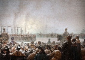 Vasily Vereshchagin. Execution of conspirators in Russia