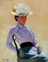 Николай Александрович Ярошенко. Сидящая на стуле женщина
