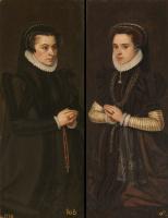 Антонис ван Дасхорст Мор. Маргарита де Парма и Мария Португальская, жена Алехандро Фарнезе