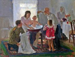 Константин Александрович Титов. В семье. 1947