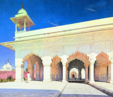 Vasily Vasilyevich Vereshchagin. The throne room of the Great Mughal Shah Jahan and Awrang-Zeb Forte in Delhi