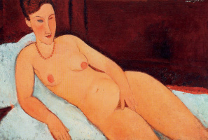 Amedeo Modigliani. Nude with coral necklace