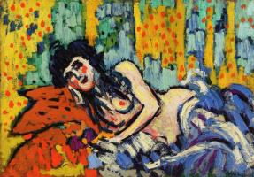"Maurice de Vlaminck. The girl from the cafe ""dead rat"""