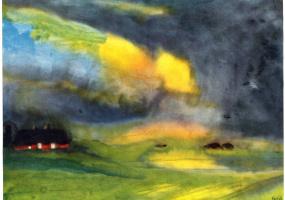 Эмиль Нольде. Разноцветное небо над болотом