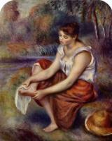 Пьер Огюст Ренуар. Девушка, вытирающая ноги