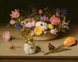 Амброзиус Босхарт Старший. Цветочный натюрморт