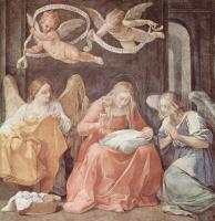 Гвидо Рени. Вышивающая Мария и ангелы