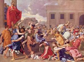 Nicola Poussin. The rape of the Sabine women