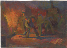 Alexandrovich Rudolf Pavlov. Study for a picture of the steelworkers.