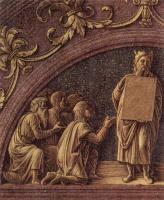 Андреа Мантенья. Алтарь дворцовой капеллы герцога Мантуанского, сцена: Обрезание Христа, деталь