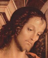 Пьетро Перуджино. Мадонна на троне со св. Иоанном Крестителем и св. Себастьяном, деталь: св. Иоанн Креститель