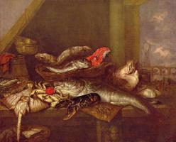 Абрахам Хендрикс ван Бейерен. Рыбная лавка