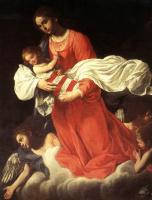 Джованни Бальоне (Баглионе). Мадонна с младенцем и ангелами