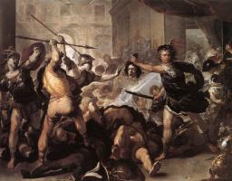 Лука Джордано. Персей борется с Финеем и его спутниками