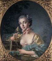 Франсуа Буше. Портрет дочери художника в овале