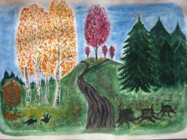 """Alexey Grishankov (Alegri). """"Autumn Road"""""""