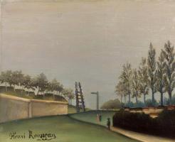 Henri Rousseau. View of countryside from Vanjskih gate