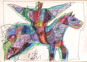 Igor Vasilyevich Kislitsyn. Winged horseman