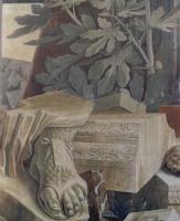 Андреа Мантенья. Св. Себастьян. Фрагмент. Обломки скульптуры и архитектурные фрагменты