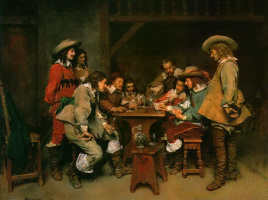 Jean-Louis-Ernest Meissonier. The game of picket