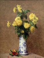 Анри Фантен-Латур. Желтые хризантемы