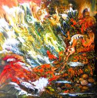 Наталья Жданова. Современная живопись картина фэнтези Подводная Одиссея